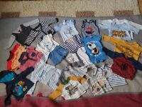 massive clearance baby clothes from 0-9 month