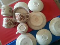 4 cups saucers and plates set 'Churchill england' £11