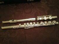 Pearl Flute originally from Japan, Silver Head and Body