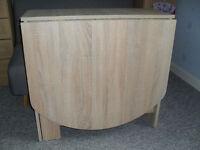 drop leaf oak effect table