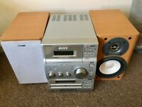Sony CD player FM radio, cassette, CD player - model number is: HCD-OP100.