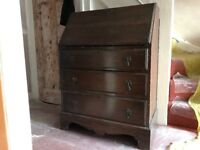 Antique Chest of Drawers - Wood Mahogany 30s 40s