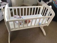 White John Lewis Swinging Crib