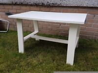 Low white table
