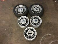 "BMW E30 325i Sport 15"" BBS Alloy Wheels 4x100 7Jx15"" - Refurbished, New Tyres"