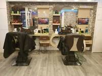 4 Barber Unit Stations With Chairs