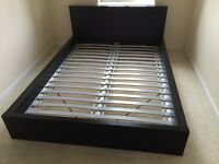 IKEA Malm double bed frame (black)