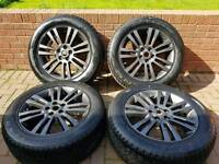 * GENUINE 19'' LAND ROVER DISCOVERY ALLOY WHEELS WITH TYRES LIKE NEW 5X120 4 5 6 T5 BARGAIN