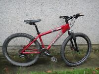 "Specialized hard rock competition bike 26 inch wheels 24 gears 15 ""aluminium frame front suspension"