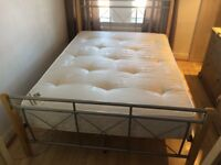 Double Bed With Orthopaedic Mattress in Excellent Condition