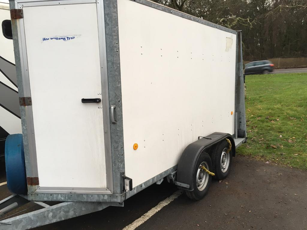 Ifor Williams box trailer catering van commercial kitchen