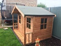 8x6 single storey playhouse , other sizes avaible to suit all budgets ,