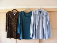 Three Susan Graver tops. Size Medium