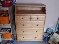 IKEA Baby changing table and chest of drawers