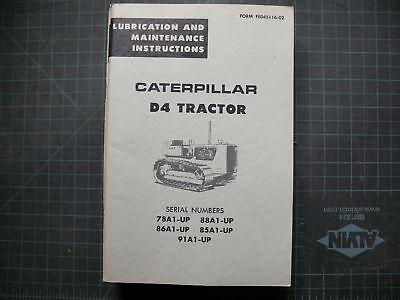 Cat Caterpillar D4 Tractor Dozer Crawler Operation Operator Guide Manual Book Oe