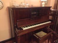 John Broadwood upright piano with stool