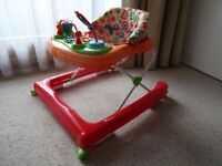 Red Kite Baby Walker, adjustable height with detachable table (MoorgateTube)