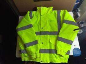 hi viz, work jacket , yellow or orange various sizes. to 2xl