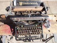 Vintage Underwood typewriter, believed 1930's