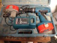 Makita cordless drill 18 volt 1.3Ah