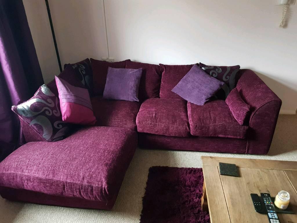 Plum Corner Sofa In Pontarddulais Swansea Gumtree