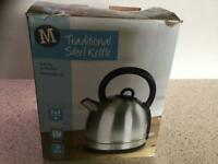 NEW stainless steel cordless kettle