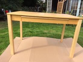 Ikea light wood table with drawer