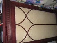 Silentnight mahogany effect glazed cabinet for hi fi / tv / storage