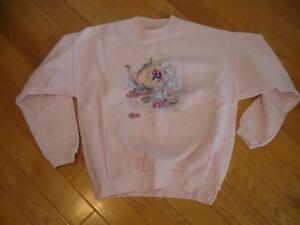 "A ""NORTHERN REFLECTION"" SWEATER ..[SIZE SM./ MED.]in SOFT PINK"