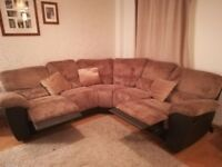 Large brown corner sofa 450 ONO