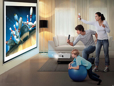 HD 3D Home theater LED Projector 1080P HDMI,DVD,VGA,TV,USB, 3000 Lumen,UK Seller
