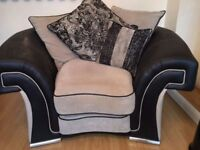 DFS SOFA LARGE ARMCHAIR AND FOOTSTOOL