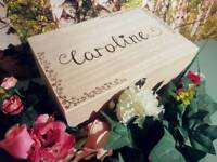 Hand engraved wooden box perfect for someone special birthday wedding anniversary christening