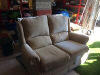 Light Gold 2 seater Sofa
