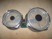 """1 Set of Genuine Remo Roto Toms 8"""" and 10"""""""