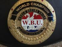WBU world title boxing belt