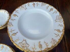 "Royal crown derby ""vine "" pattern part dinner service"