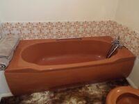 .Armitage Shanks Autumn tan 4 piece bathroom suite suite in very good condition