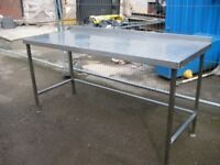 Commercial stainless steel table.