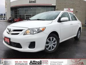 2012 Toyota Corolla CE C Package. Keyless Entry, Bluetooth, A/C