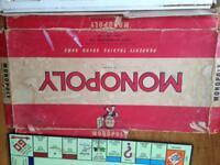 Original Monopoly game board 1960s