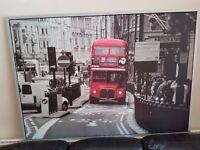 BIG Canvas picture - London Bus