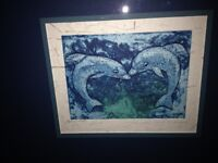 DOLPHIN PAINTING from Cuba