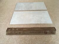 NEW PORCELAIN FLOOR/WALL TILES BY GAYAFORES. TOTAL OF EIGHT. EACH MEASURES 62cm by 32cm