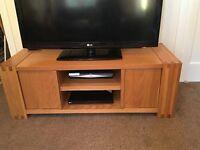 Next oak tv unit + side unit