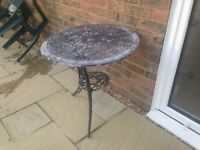 Patio table wrought iron