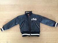 Rare black motorbike 'Retro Rider' jacket- 2 years, great design