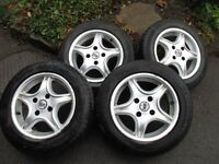 4 Alloy wheels with tyres from a fiesta
