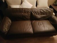 Two leather settees great condition £50 each or £100 the pair