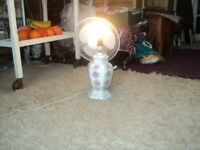 a very pretty cottage style lamp base in good working order as shown.
